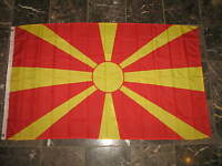3x5 Macedonia Macedonian Rough Tex Knitted Flag 3'x5' Brass Grommets