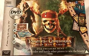 PIRATES-OF-THE-CARIBBEAN-DEAD-MAN-039-S-CHEST-DVD-BOARD-GAME-PARKER-2006-VGC