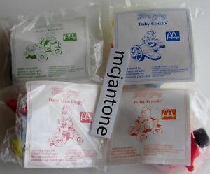 MIP-SET-4-McDonald-039-s-1991-92-MUPPET-BABIES-Kermit-Fozzie-REGIONAL-Baby-COMPLETE