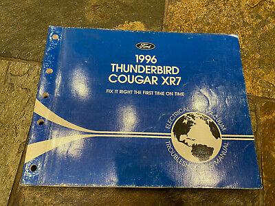 1996 Ford Thunderbird Mercury Cougar Wiring Diagrams ...