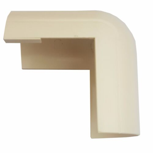50mm x 25mm Magnolia Clip-Over External Bend Trunking Adapter 90 Degree Conduit
