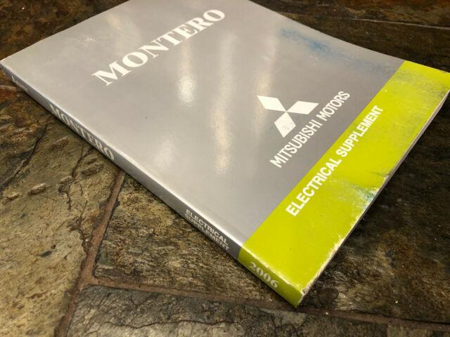2006 Mitsubishi Montero Electrical Wiring Diagrams Service