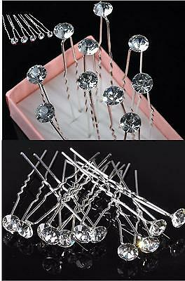 Bridal / Wedding / Prom / Formal Occasions Clear Crystal Rhinestone Hair Pins