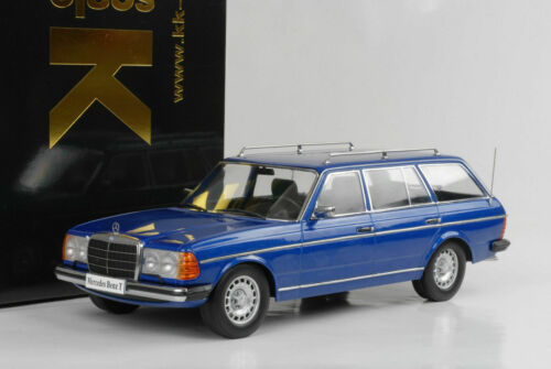Mercedes-Benz 250T 1978 W123 Kombi Estate blue blau metallic 1:18 KK diecast
