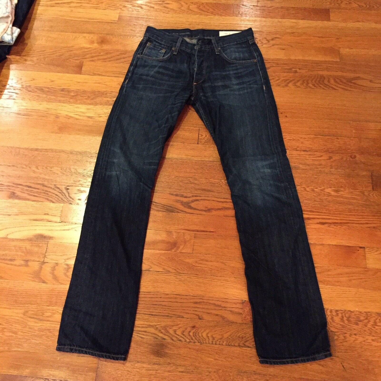 Rag & Bone RB 15X Slim Straight Fit Mens Jeans In Worn Olive Size 30