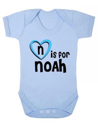 Noah Baby Bodysuit Baby Vest N Is For Noah Playsuit