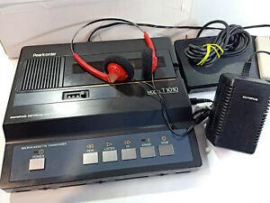 Olympus-T1010-MicroCassette-Desktop-Transcriber-Transcription-Machine-Foot-Pedal
