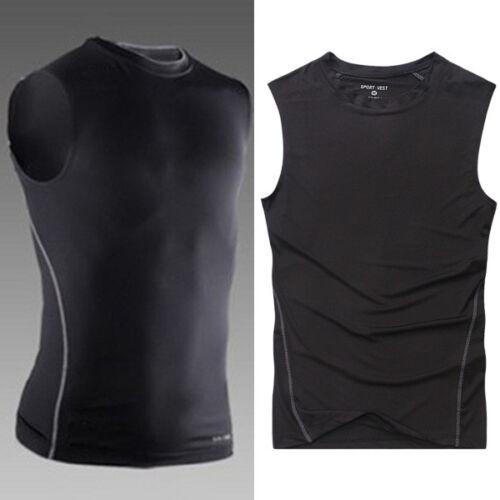 Herren Kompression Base Layer Tank Tops Sport Muskelhemd T Shirt Weste Elastisch