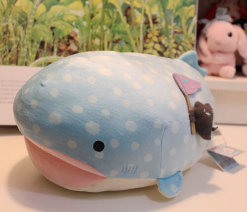 "11"" Medium Sanx Whale Shark Plush Doll JinbeiSan Plush Toy Super Cute Pillow"