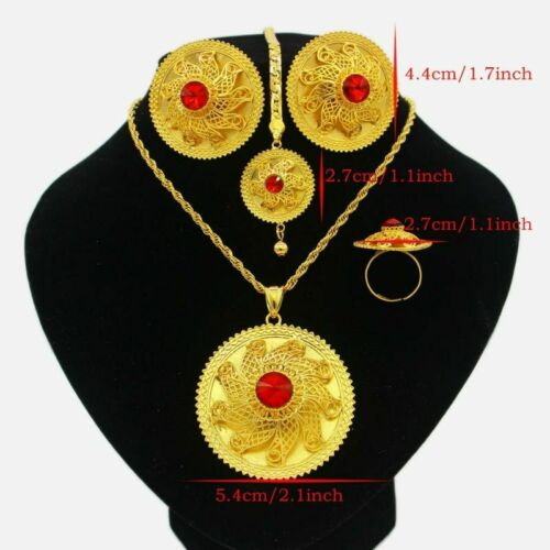 Wedding Jewelry Sets Ethiopian Gold Color Habesha African Women Party Gift Set