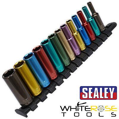 Sealey Premier 13pièces 0.6cm Moteur Multicolore Jeu de Douille Métrique 4-14mm