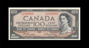 1954-BANK-OF-CANADA-QEII-100-034-Beattie-amp-Rasminsky-034-GEM-UNC