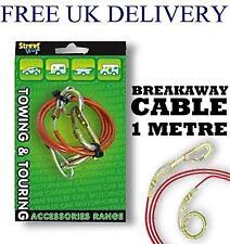 1M Plastique Acier Breakaway Câble De Remorquage Camping Remorque Caravane