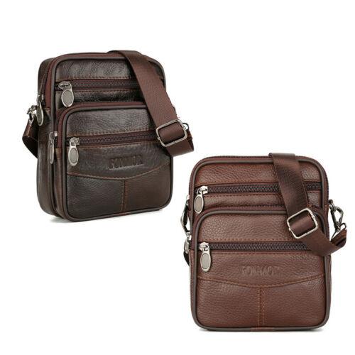Vintage Men/'s Genuine Cow Leather Messenger Bags Cross Corps Sac à Main Épaule-Sac