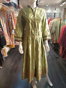 Indian-Pakistani-Shalwar-Kameez-Salwar-Suit-Dress-Wedding-Designer-Kurta-Green