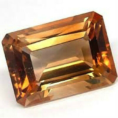 Octagon AAA Rated Champagne Golden Cubic Zirconia (6x4mm to 25x20mm)
