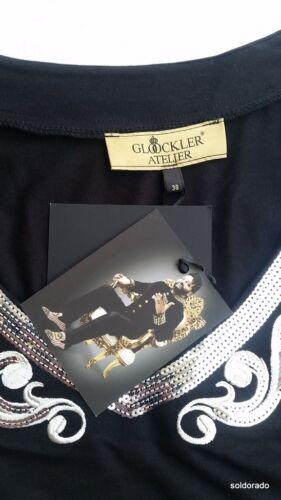 38 neu Schwarz Glööckler Mit Atelier Silber Kleid Gr Langarm 36 zqg0x6q