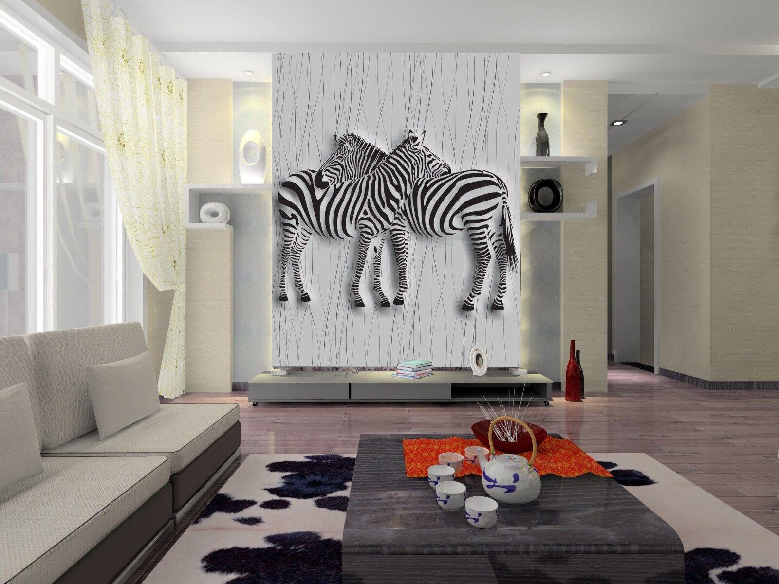 3D Zebra Muster Tier 719 Tapete Wandgemälde Tapete Tapeten Bild Familie DE Jenny | Für Ihre Wahl  | Sonderaktionen zum Jahresende  | Produktqualität