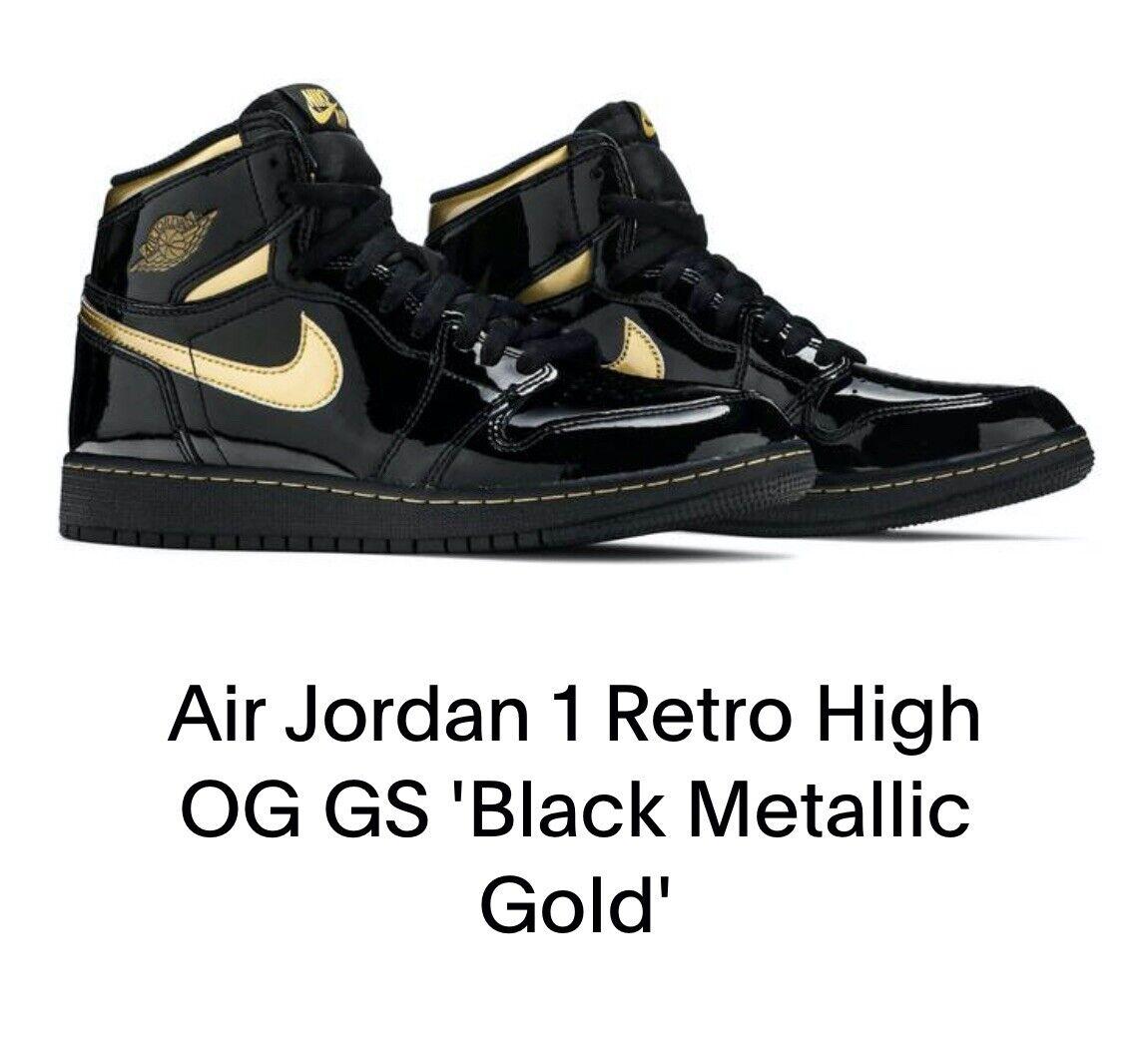 Air Jordan 1 Retro High OG GS 'Black Metallic Gold'