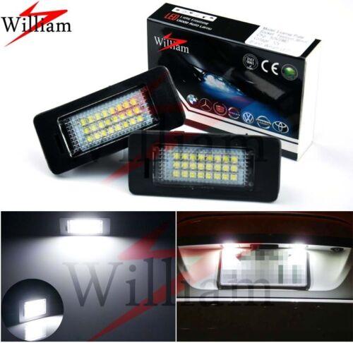 2x LED License Plate Lights Xenon White For BMW 3 Series E90 E91 E92 E93 F30 F31
