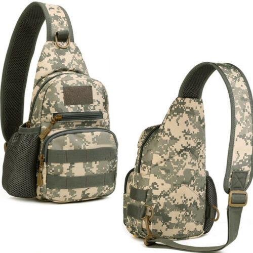 Men Tactical Military Shoulder Sling Chest Bag Crossbody Camo Camping Traval Bag