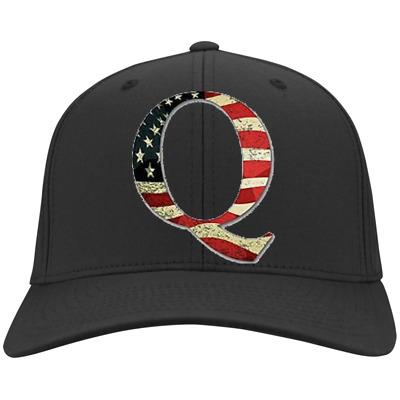 QAnon Q American Flag Embroidered Twill Cap | eBay
