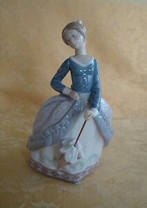 Lladro Spain Porcelain Figurine Evita 5212 Girl With Umbrella