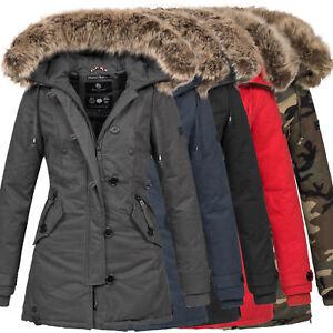 Details about Navahoo Damen Designer Winter Jacke warme Winterjacke Parka Mantel B638 NEU