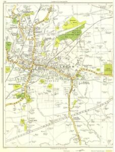 Collection Here Lancs.leigh,pennington,lately Common,green Lane End,bedford,westleigh 1935 Map To Adopt Advanced Technology Art Prints