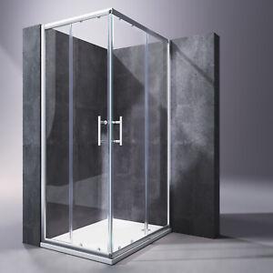 Duschkabine Eckeinstieg Schiebetür Duschabtrennung Duschwand ohne//mit Duschtasse