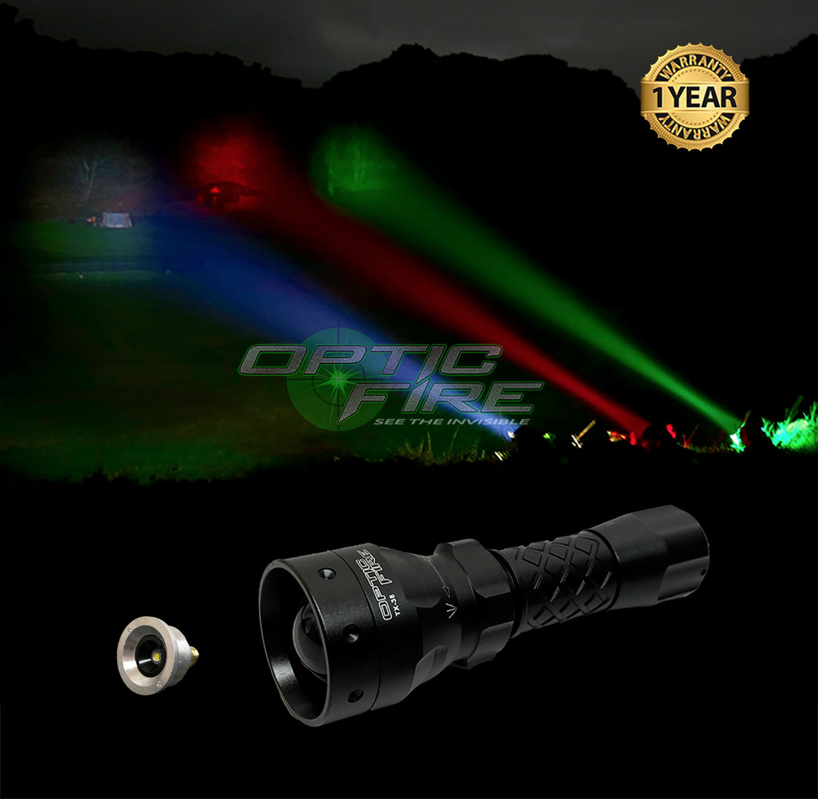 Opticfire® TX-38 T38 LED hunting light NV torch lamping lamp IR NV light night vision 5c7691