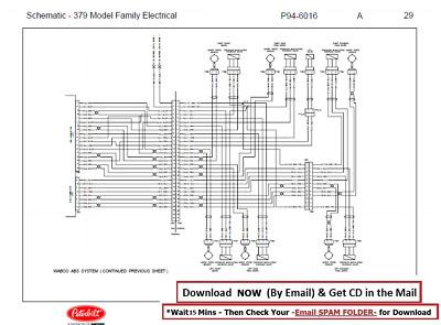 1985-2007 Peterbilt 379 Truck Engine & Cab Wiring Diagram Schematics CD |  eBayeBay