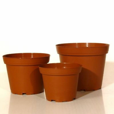 Rundtöpfe 9 bis 15cm Kunststoff Anthrazit Pflanztöpfe Anzuchttöpfe Blumentöpfe