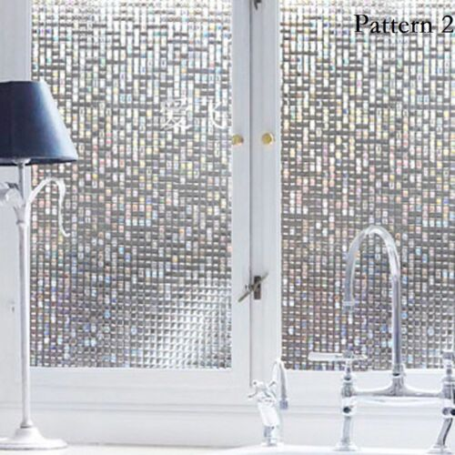 45X100cm Frosted Privacy Glass Window Door Decal Film Sticker Home Bath Art Chic