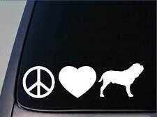 "Peace love Neapolitan sticker *H124* 8"" vinyl neo mastiff"