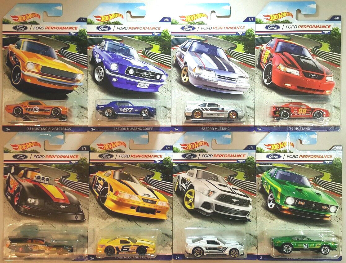 1 64 Hot Wheels FORD PERFORMANCE MUSTANGS SET of 8
