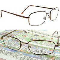 Bifocal Reading Glasses Spring Hinge Metal Frame 125- 350 Quality freedom
