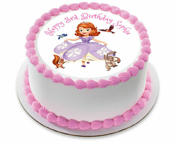 Brilliant Sofia The First Personalized Birthday Cake Topper Edible Icing Birthday Cards Printable Benkemecafe Filternl