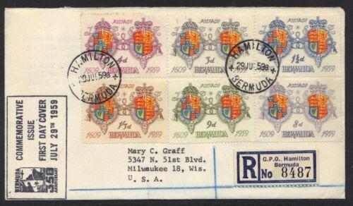 BERMUDA 1959 REGISTERED HAMILTON TO MILWAUKEE WI