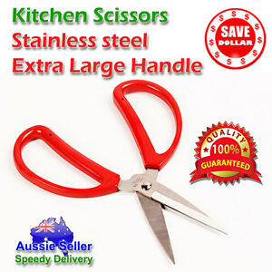 NEW-Kitchen-Office-Scissors-Stainless-Steel-Extra-Large-Handle-Comfortable-Grip