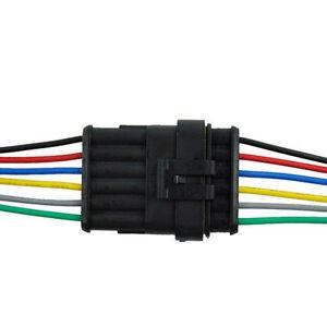 6-Pin-Way-Car-Waterproof-Electrical-Connector-Plug-Socket-Kit-w-Wire-AWG-Marine