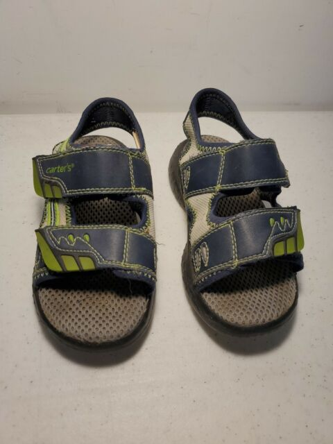 Carter's Toddler Boy's Sandals Size 9 M Summer Shoes Blue And Green