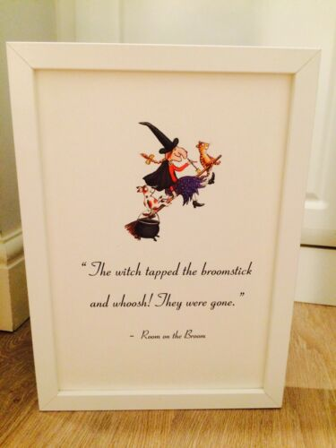 Room On The Broom Julia Donaldson Quote Art Print Unframed Gift Nursery Home