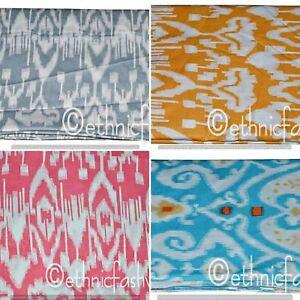 Indian-100-Fabric-Cotton-Ikat-Screen-Print-Natural-Handmade-Jaipuri-craft-New