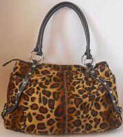 Beautiful Couture Kathy Van Zeeland Leopard Cheetah Purse Tote VLV Hobo Bag