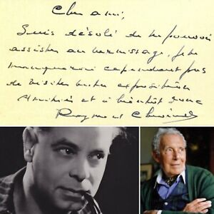 🌓 Le compositeur belge RAYMOND CHEVREUILLE écrit à l'artiste MICHEL CIRY 1945