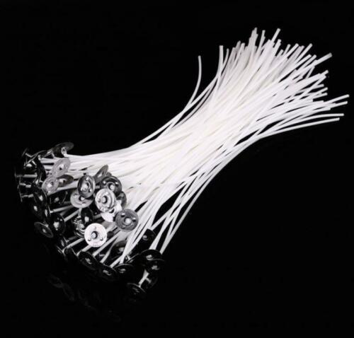 """50pcs Candle Wicks Cotton Core Pre Waxed With Sustainers For Candle Making 8/"""""""