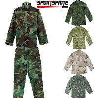 Military Bdu Combat Camouflage Clothes Set Jacket + Pants Tops Uniform Unit