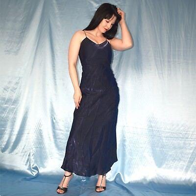 metallic blaues satinkleid s 36  träger abendkleid cocktailkleid partykleid  ebay