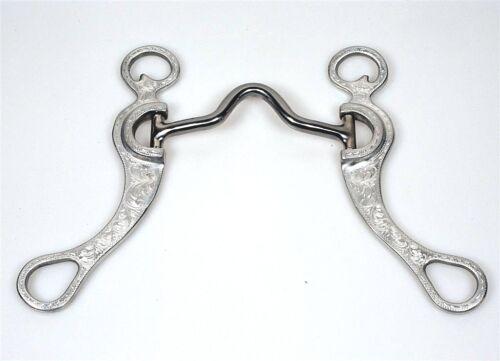 """Medium Port Bit 5/"""" 12.7cm Aluminium graviert Edelstahl Mundstück F.G"""